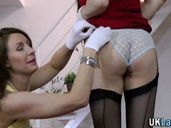 Brits In Stockings Lick