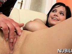 Girl Begins Bouncing On Jock Of Lad Getting Lots Of Delight