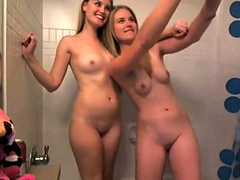 Brunette And Blonde Lesbian Chicks Lick And Fuck