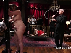 Hot Group Of Slaves Getting Whipping