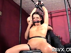 Slutty Slut Gets Stimulated Whilst Being Totaly Bounded Up