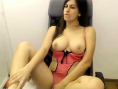 Busty Ebony Chick On Webcam Big Boobs