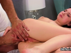 Cute Teenie Opens Up Tight Hole And Gets Deflorated1212rrp