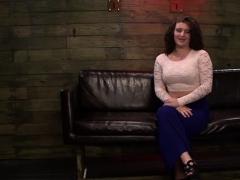 Massive Knob Dildo Devours Sexy Blonde's Gaping Vagina