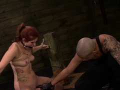 Oriental Girl In Ropes Gets Her Taut Little Pussy Destroyed