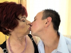 Horny Grandma Jizzed On