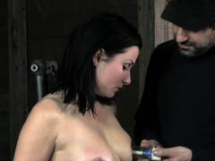 Nt Punished Submissive Shaking While Toyed