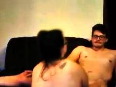 Luscious Amateur Brunette Serving Fat Cock Hardcore
