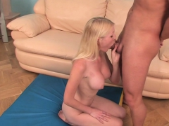 Blonde Cutie Has Fun With A Dick