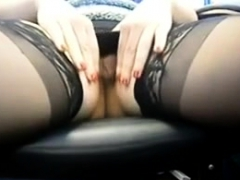 British Lingerie Girl Solo Masturbation