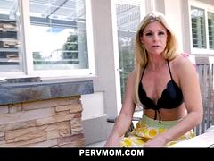 Pervmom - Hot Stepmom And Stepson Fuck For Lunch