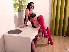 German Big Tits Lingerie Teen In Anal Gangbang