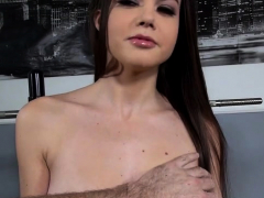 Brunette Pornstar Ball Licking With Cum In Mouth