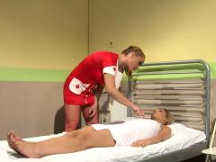Tiedup Sub Beauty Tormented By Lezdom Nurse