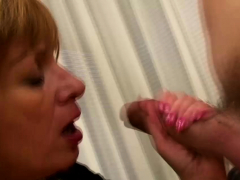 Mature Blonde Gets Cum On Tits After Sex