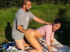 Amateur Couple Fucking Outdoors