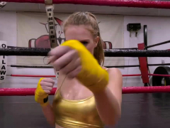 Blonde Pounded Hard In The Boxing Ring