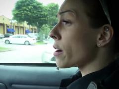 Naughty Milf Cops Make Suspect Squash