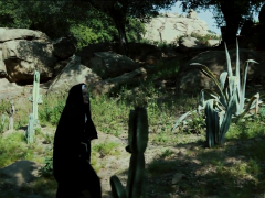 Stockinged Lesbian Nun Moans For Fingerbang