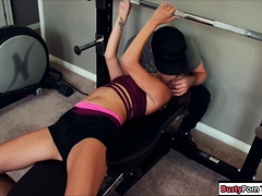 Sexy Blonde Babe Fucked In The Gym