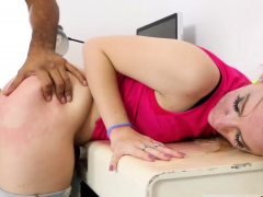 Interracial Teen Breeding Aggressively Trying New Things