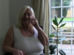 Stockinged Grandma Nailed