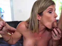 Mom And Compeer's Ally Share Bed Stepmom Turns Wet Dreams