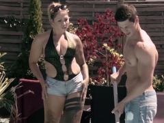 Hitzefrei Tattooed German Slut Fucking The Pool Boy