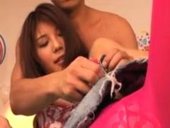 Hairy Asian Teen Blowjob