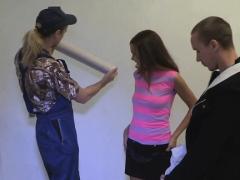 Fascinating Brunette Teen Gal Candy Julia Gets Banged Well