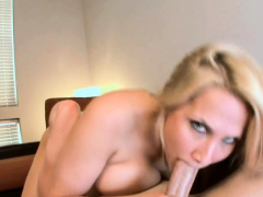 Hungry Playgirl Gets Her Pleasant Face Spewed With Sperm