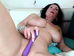 Brunette Mom Playing With Herself