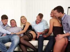 Three Males Vs Two Slutty Babes