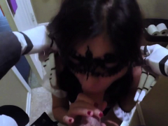 Teen Slut And Sex With Owner Wife Swalloween Fun