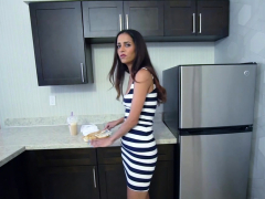 Careful Milf Stepmom Helped A Young Stepson With It