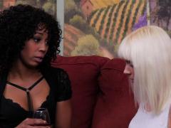 Black Babe Scissoring With White Chick