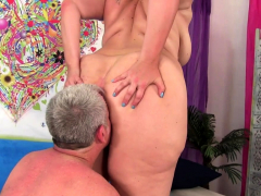 Old Guy Pummels Fat Babe Amanda Foxxx