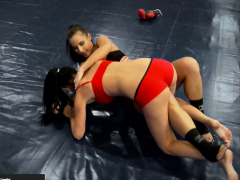 Euro Babes Scissoring In The Wrestling Ring