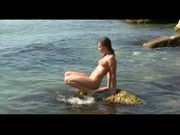 Teen isabella in beach