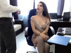 Horny Secretary With Hot Slim Body Suck And Fuck Her Boss Li
