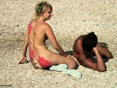 Hot Group Sex With Dp On The Beach