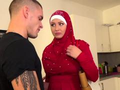 Guy Punishes His Tardy Muslim Girlfriend