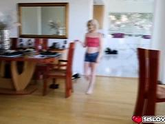 Blonde Stepsister Stevie Grey Riding Her Stepbros Cock