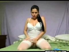 Latina Fuck Big Dildo In Ass