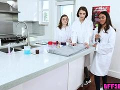 Teen Schoolgirl Besties Nasty Chemistry Experiment
