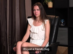 Timid Virgin Nastya Kalinina Strips And Masturbates