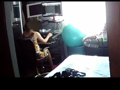 Mom Masturbates Under Desk Every Evening