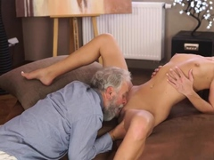 Old Granny Fucks Young Guy And Man Threesome Sexual