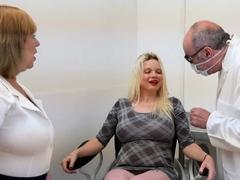 Oldnanny Two Horny Lesbian Ladies Examination