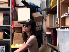 Asian Shoplifter Gets Cum
